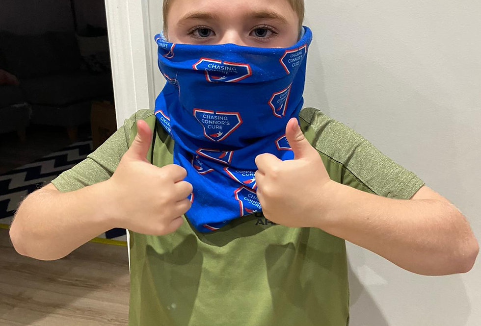 Chasing Connor's Cure branded snood - with postage