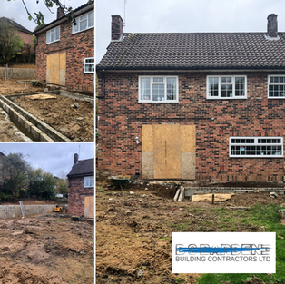Extension to a residential property in S
