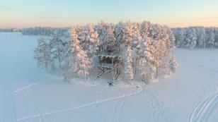 Зимняя вышка на озере Контокки