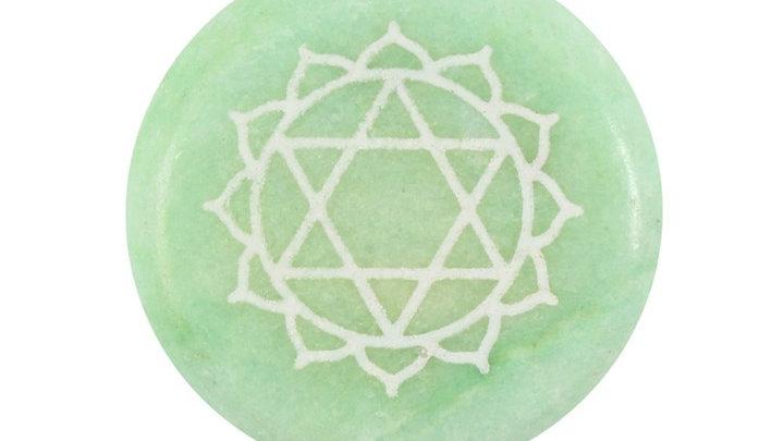 Heart Chakra Meditation Stone + Bag