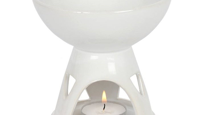 White Geometirc Oil Burner