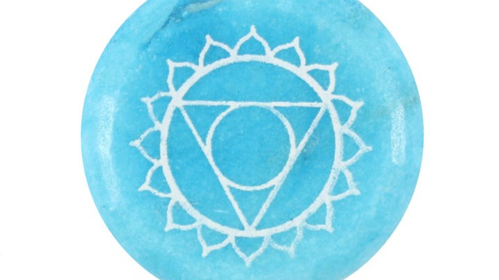 Throat Chakra Meditation Stone + Bag