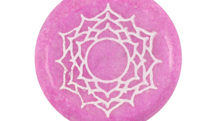 Crown Chakra Meditation Stone + Bag