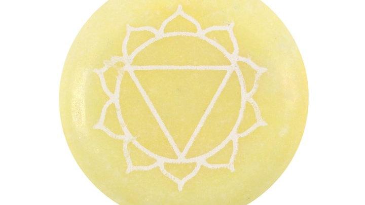Solar Plexus Chakra Meditation Stone + Bag