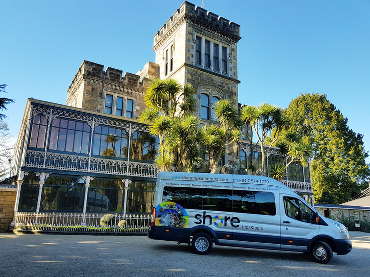 Transit outside Larnach Castle 2018.jpg