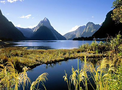 Mitre Peak and Milford Sound New Zealand