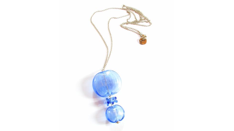 Sautoir Bleu Givré