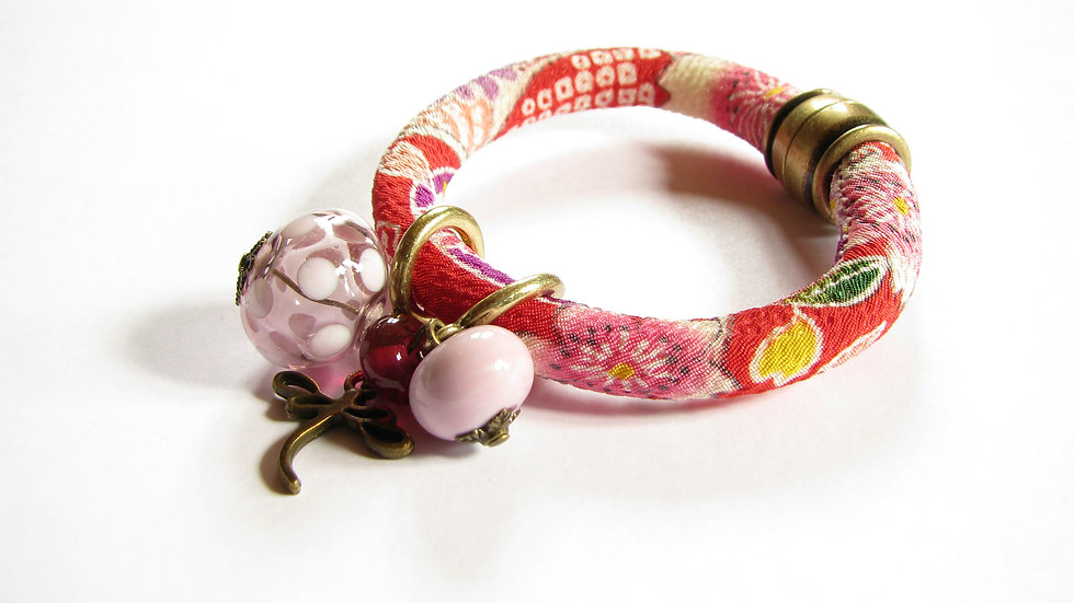 Bracelet Japon rose