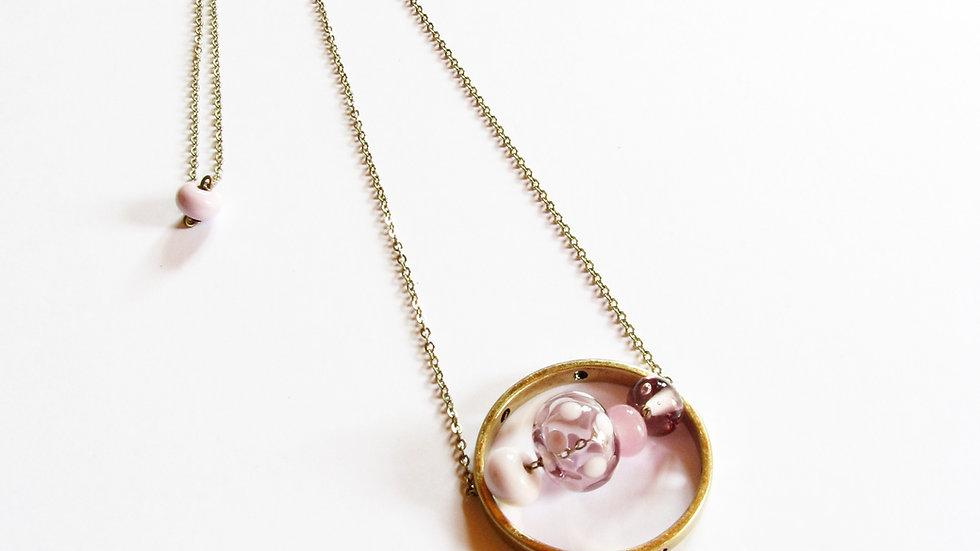 Sautoir Satellite rose