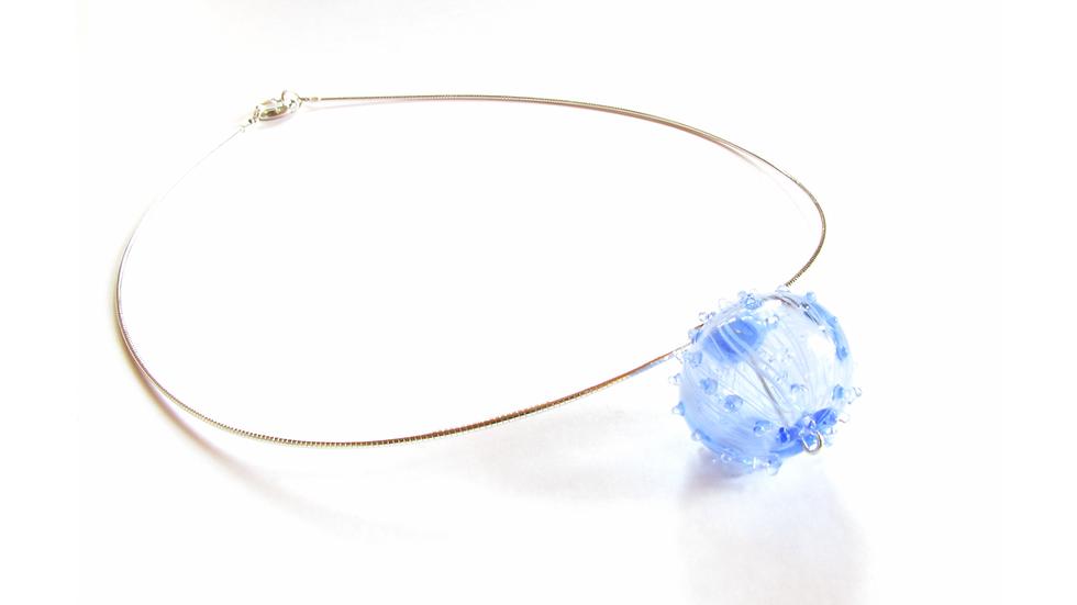 Collier Oursin Bleu