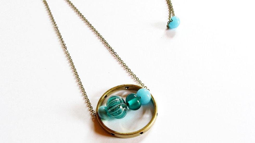 Sautoir Satellite turquoise