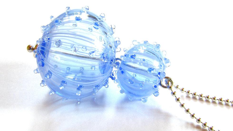Pendentif Oursin bleu