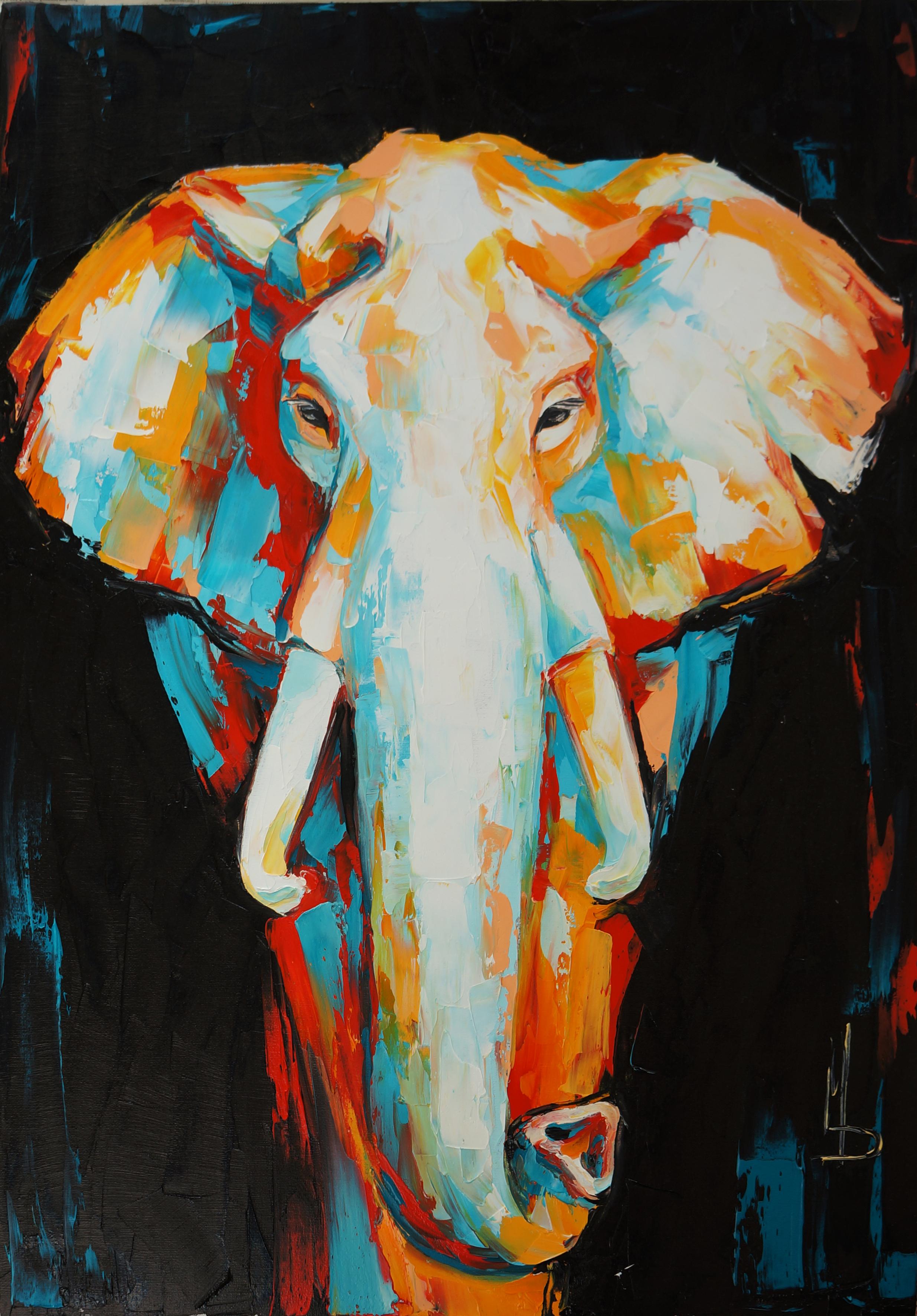 слон черный / black elephant