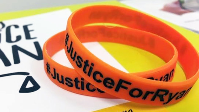 'Justice For Ryan' Wristband