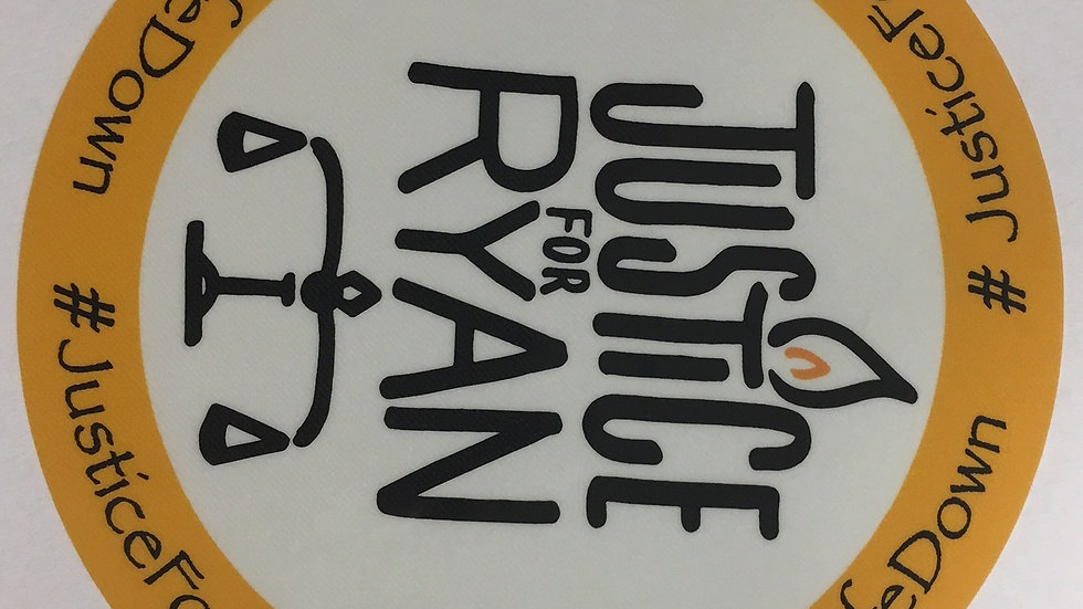 'Justice For Ryan' Car Sticker
