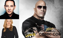 Dwayne, Rubens, and Melissa Joan Hart In for Los Angeles Comic Con 2017