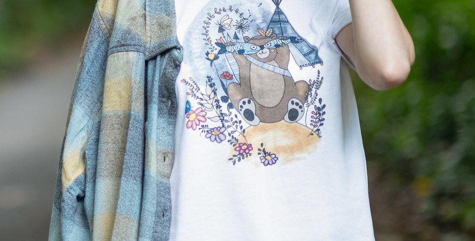 """Alaskan Tribal Bear"" Graphic Tee"