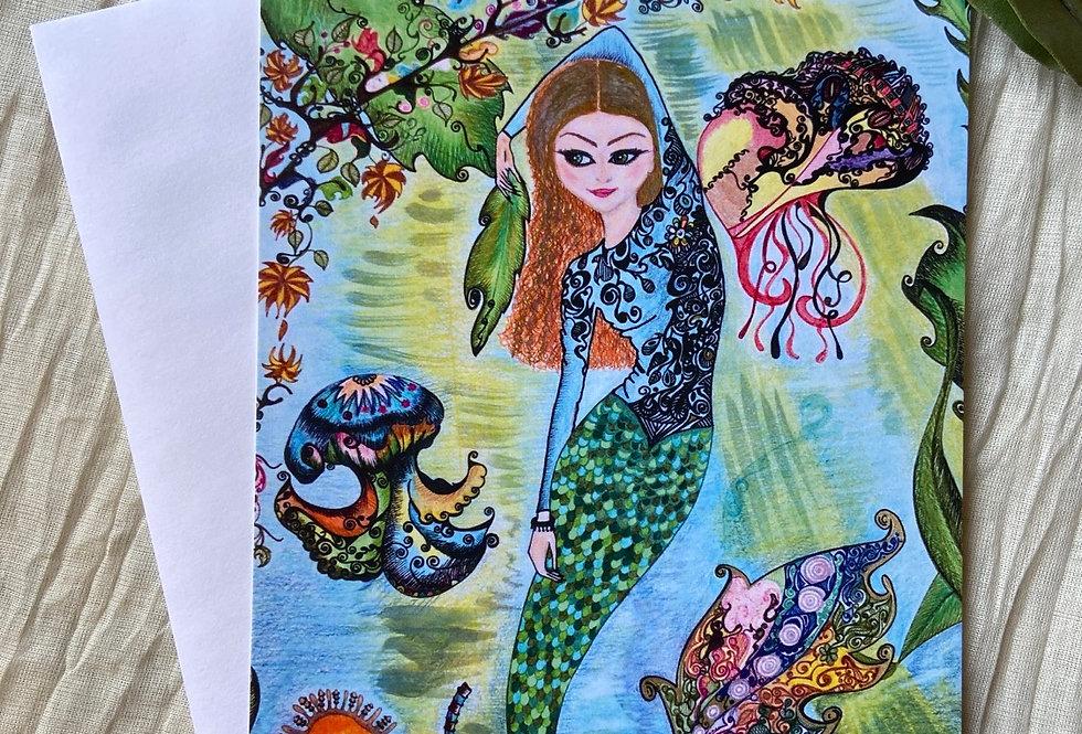 """ Mermaid's Life"" Greeting Card"