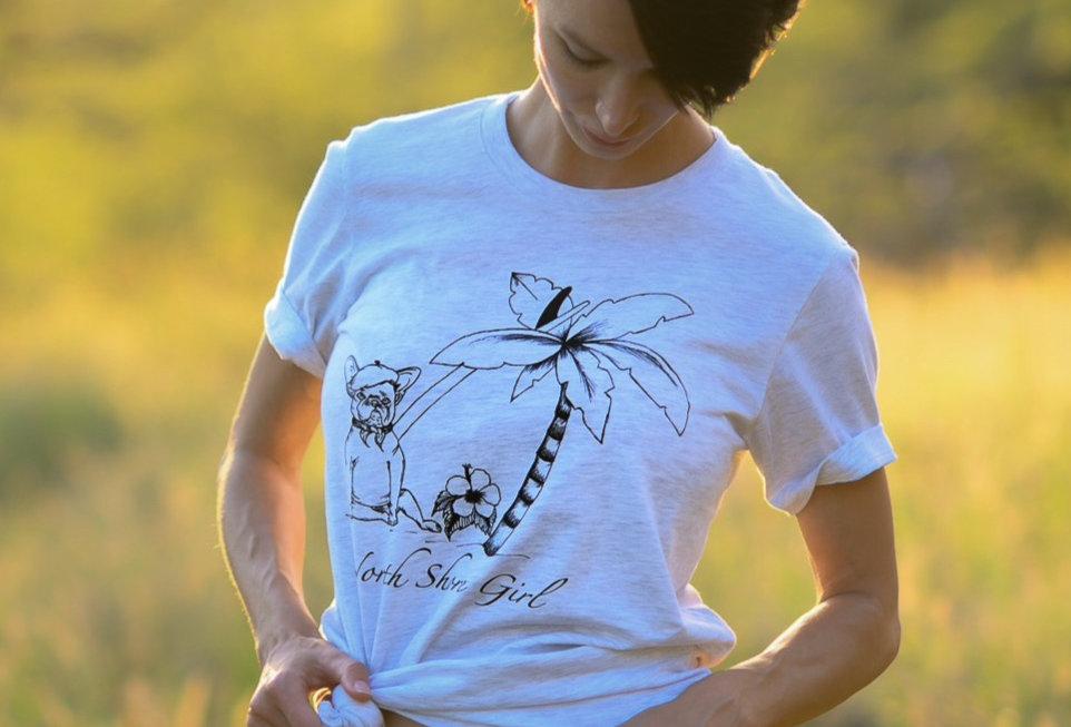 French Bulldog Surfer T-shirt