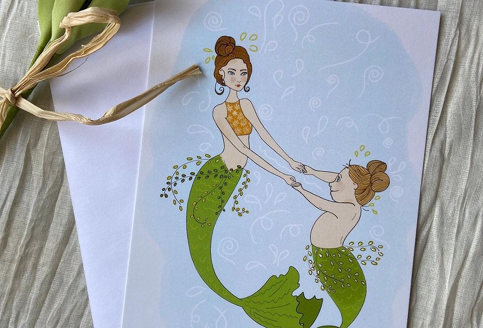 """Womanderful"" Mom & Daughter Greeting Card"