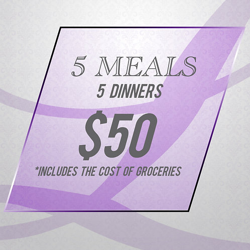 Clean Eating - 5 Meal Package (Dinners Only)