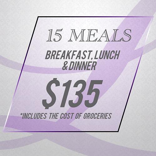 Clean Eating - 15 Meal Package (B/L/D)