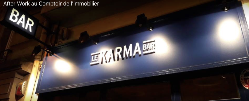 After Work Comptoir de l'Immobilier / My Notary  au Karma Bar - 23 mars 2017