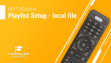 MYTVOnline Playlist Setup - local file