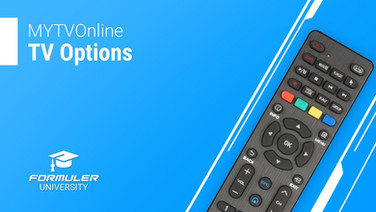 MYTVOnline TV Options