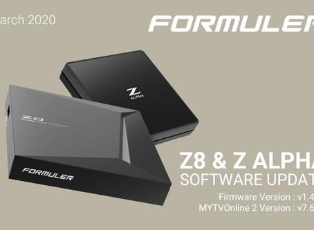 March 2020 Formuler Z8 & Z Alpha Software Update