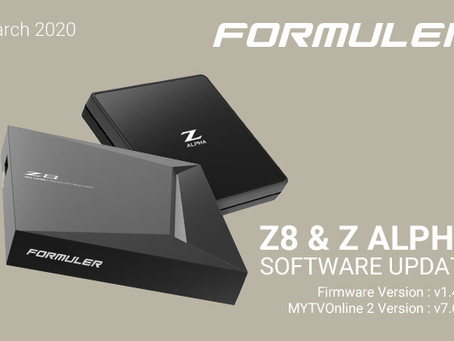 March 2020 Formuler Z8 & Z Alpha Software Update