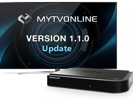 MYTVOnline Version 1.1.0 Released