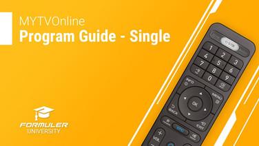 MYTVOnline Program Guide - Single