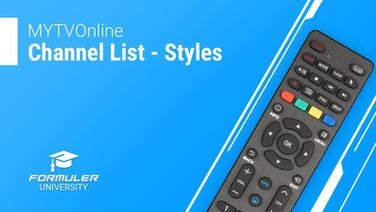 MYTVOnline Channel List - Styles