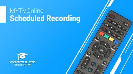MYTVOnline Scheduled Recording