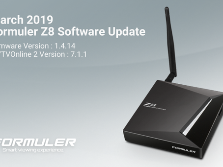 March 2019 Formuler Z8 Software Update