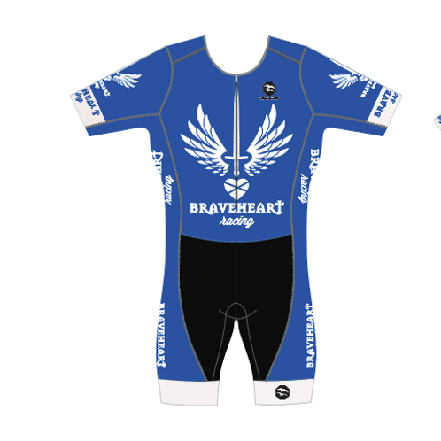BRAVEHEART Men's Short Sleeve AquaSpeed Tri Suit