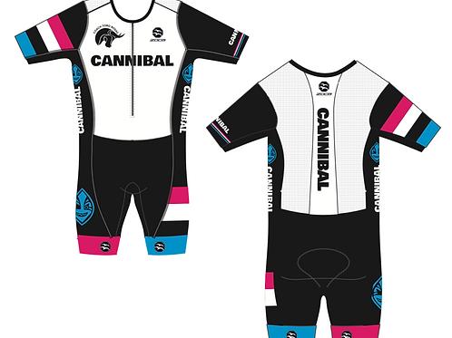 CANNIBALES Men's Short Sleeve AquaSpeed Tri Suit