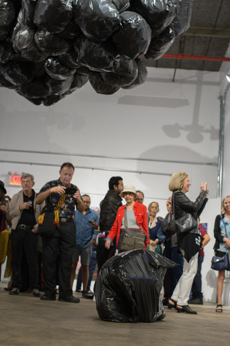 Untitled (Cruelty) peformance and Human Cloud installation