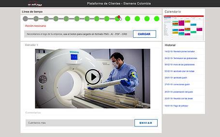 Plataforma de clientes videos corporativos