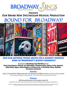 Bound for Broadway Promotional Flyer-Fin