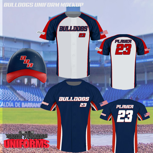 Bulldog Custom BAseball Uniform Package