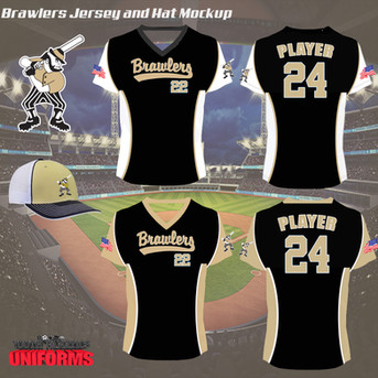 Brawlers Custom Baseball uniform Mockup.