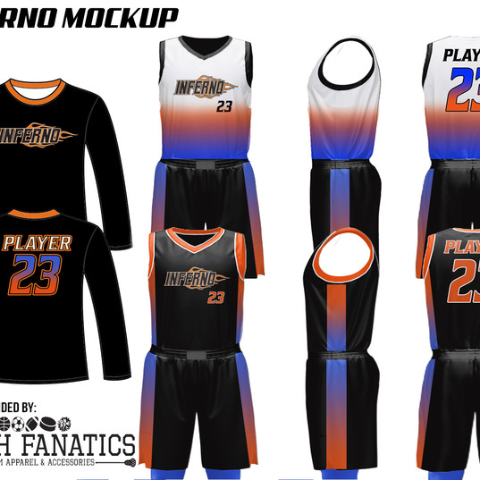INFERNO CUSTOM BASKETBALL UNIFORM PACKAG