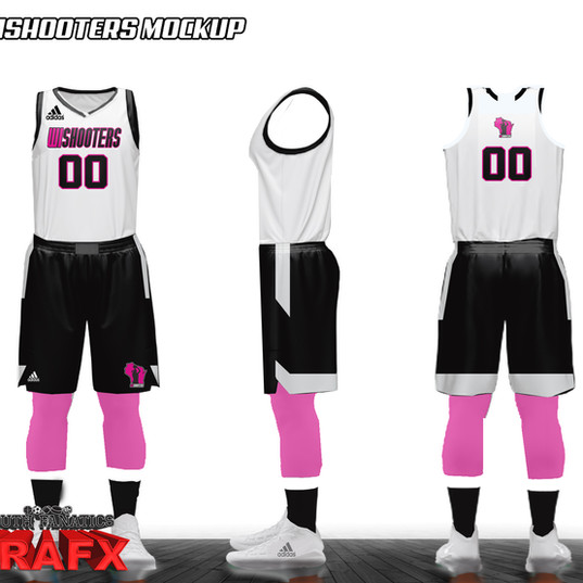 WISHOOTER CUSTOM GIRL BASKETBALL UNIFORM MOCKUP