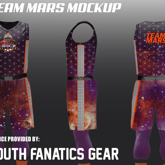 TEAM MARS CUSTOM BASKETBALL UNIFORMMOCKU