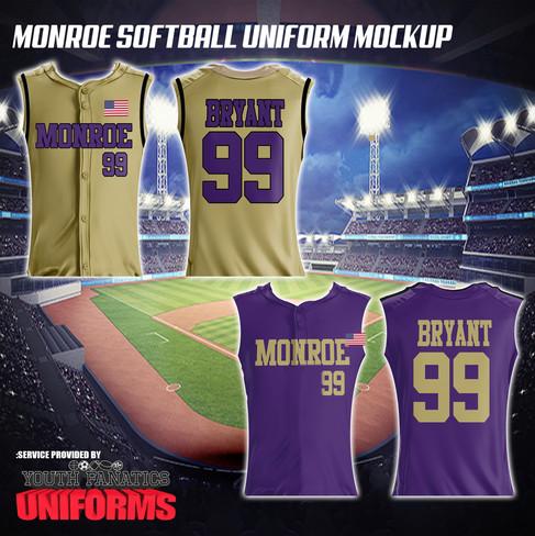 Monroe Township Custom Softball Jerseysjpg