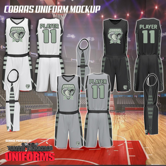 Cobras custom basketball uniform design
