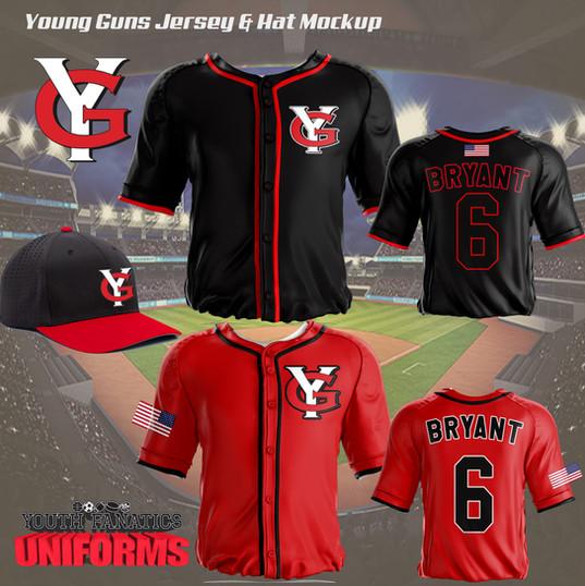 Young Guns Custom Baseball uniform Mocku