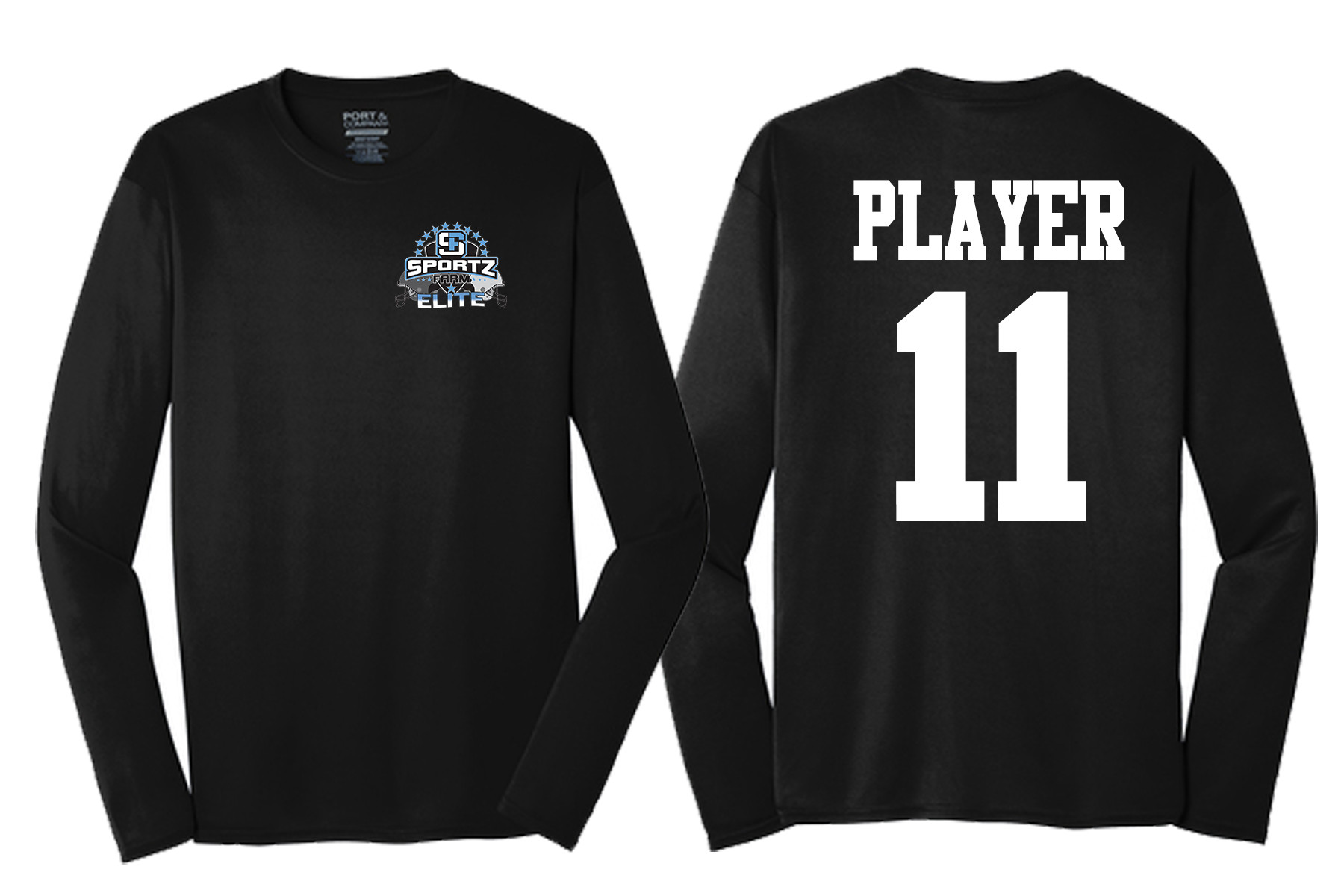 SportzFarm Long Sleeve Practice Wear - Black